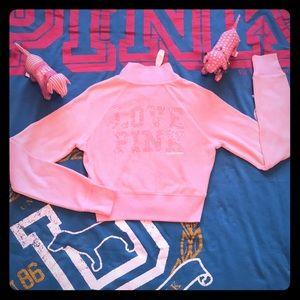 💕 NWT VS PINK Vintage Bling Full Zip Up 💕